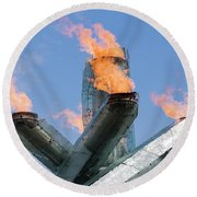 Olympic Cauldron Round Beach Towel