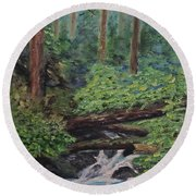 Olympic National Park Round Beach Towel