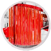Olympic Neon Flame Round Beach Towel