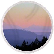 Olympic Silhouette Round Beach Towel