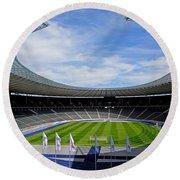 Olympic Stadium Berlin Round Beach Towel