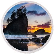 Olympic Sunset Round Beach Towel