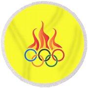 Olympics T-shirt Round Beach Towel