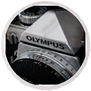 Om-1 - D010028b Round Beach Towel by Daniel Dempster