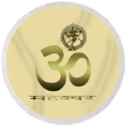 Round Beach Towel featuring the photograph Om Shiva by Robert G Kernodle