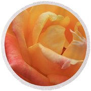 Ombre Rose Round Beach Towel