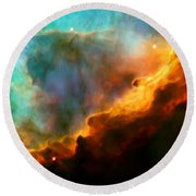 Omega Swan Nebula 3 Round Beach Towel by Jennifer Rondinelli Reilly - Fine Art Photography