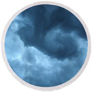 Ominous  Round Beach Towel by Angie Rea