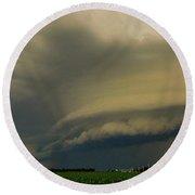 Ominous Nebraska Outflow 007 Round Beach Towel