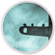 Ominously Seatlle  Round Beach Towel