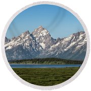 Round Beach Towel featuring the photograph On A Clear Day by Jan Davies