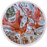 On A Cold Day Round Beach Towel by Susan Leggett