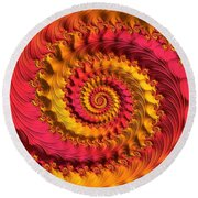 On Being Bold And Beautiful Round Beach Towel