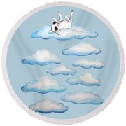 On Cloud Nine Round Beach Towel