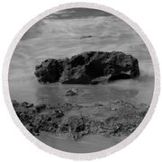 On Coast. Round Beach Towel by Shlomo Zangilevitch