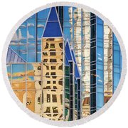On Reflection Round Beach Towel by Neil Shapiro