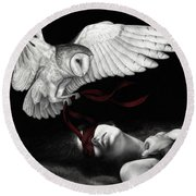 On Silent Wings Round Beach Towel by Pat Erickson