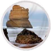 On Southern Shores Round Beach Towel