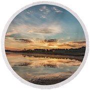 On The Banks Of The Nacote Round Beach Towel