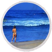 On The Beach Round Beach Towel