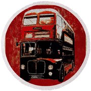 On The Bus Round Beach Towel