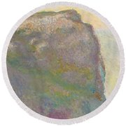 On The Cliff Round Beach Towel