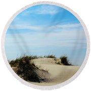 On The Dunes Round Beach Towel