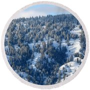 Round Beach Towel featuring the photograph On The Far Side by Will Borden