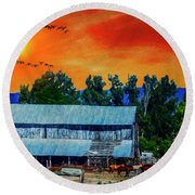 On The Farm II Round Beach Towel by Billie-Jo Miller