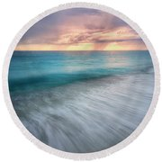 On The Horizon  Round Beach Towel