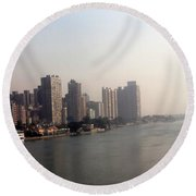 On The Nile River Round Beach Towel