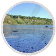 On The North Saskatchewan River Round Beach Towel