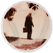On The Path To Nowhere Round Beach Towel