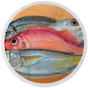 On The Platter Round Beach Towel