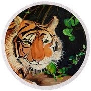 On The Prowl Round Beach Towel