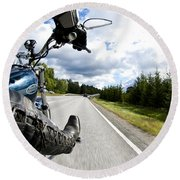 On The Road Round Beach Towel