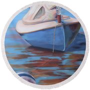 On The Sandbar Round Beach Towel
