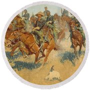 On The Southern Plains, 1907 Round Beach Towel