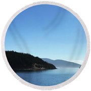 On The Way To Orcas Round Beach Towel