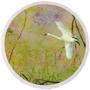 On The Wing Round Beach Towel