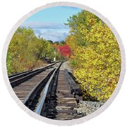 Round Beach Towel featuring the photograph On To Fall by Glenn Gordon