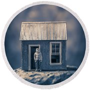 Round Beach Towel featuring the photograph On Top Of Old Smokey by Edward Fielding