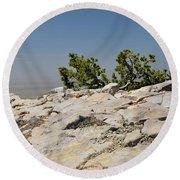 On Top Of Sandia Mountain Round Beach Towel