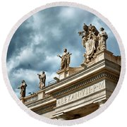 On Top Of The Tuscan Colonnades Round Beach Towel