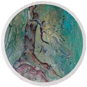 Once A Mighty Oak Round Beach Towel