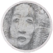 Once A Queen Round Beach Towel