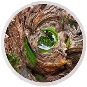 Round Beach Towel featuring the photograph Once A Tree by Pennie  McCracken