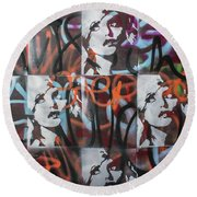 Round Beach Towel featuring the painting Once I Had A Love by Jayime Jean
