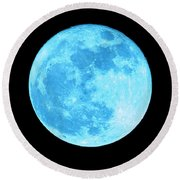 Once In A Blue Moon Round Beach Towel