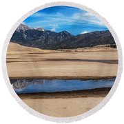 Once In A Lifetime  Round Beach Towel